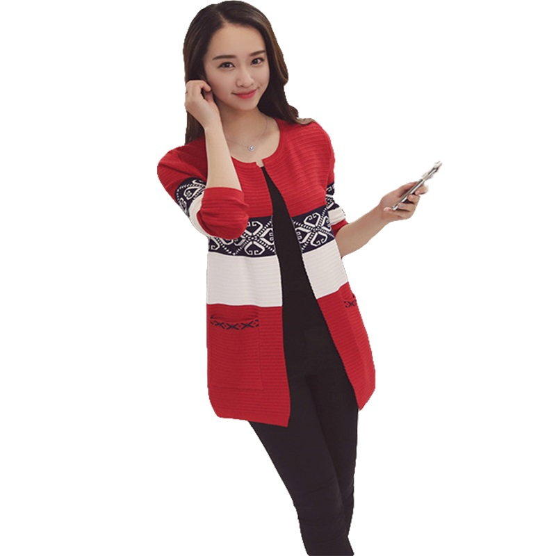 New Arrival Classic Autumn Women Cardigan Black / Gray / Pink / Red Female Open Stitch Knitted Sweater Casual Girl Coats sha006