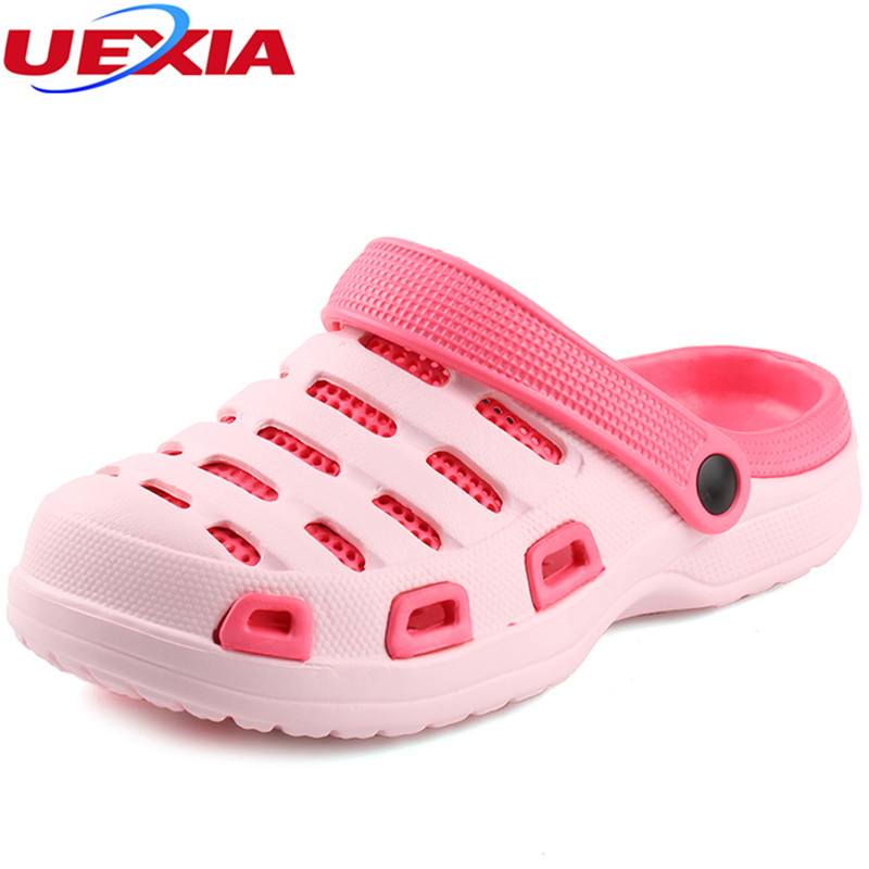UEXIA 2018 New Summer Slippers Shoes Fashion Beach Women Sandals Casual Flats Slip on Flip Flop Hollow Outdoor Light Upstream xiaying smile new summer women sandals casual fashion shoes bohemian style flats ladies hollow string bead flora slip on shoes