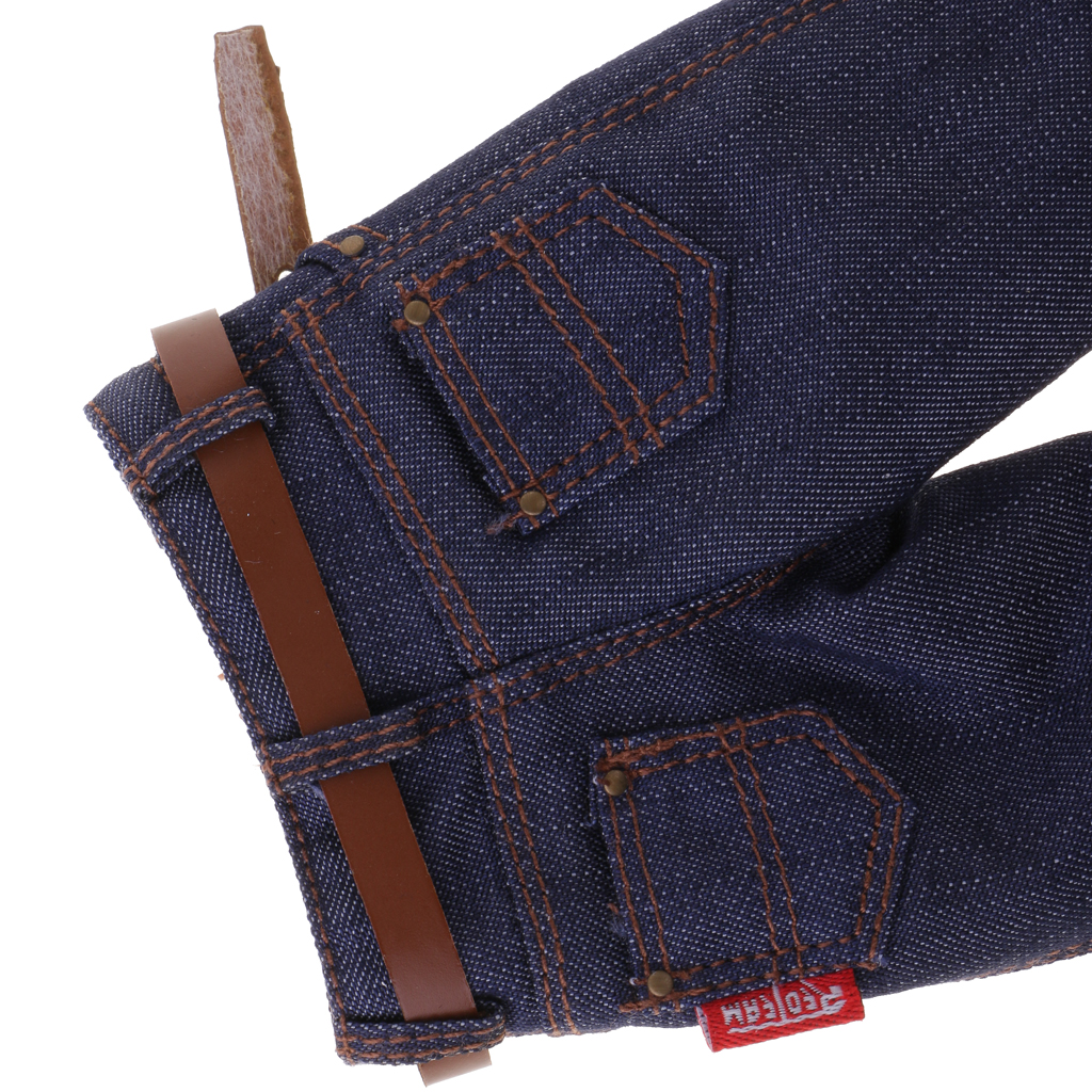 Classic Pants Sideshow-Toys Action-Figure-Clothes Male for 12'' Dark-Blue Jeans Denim