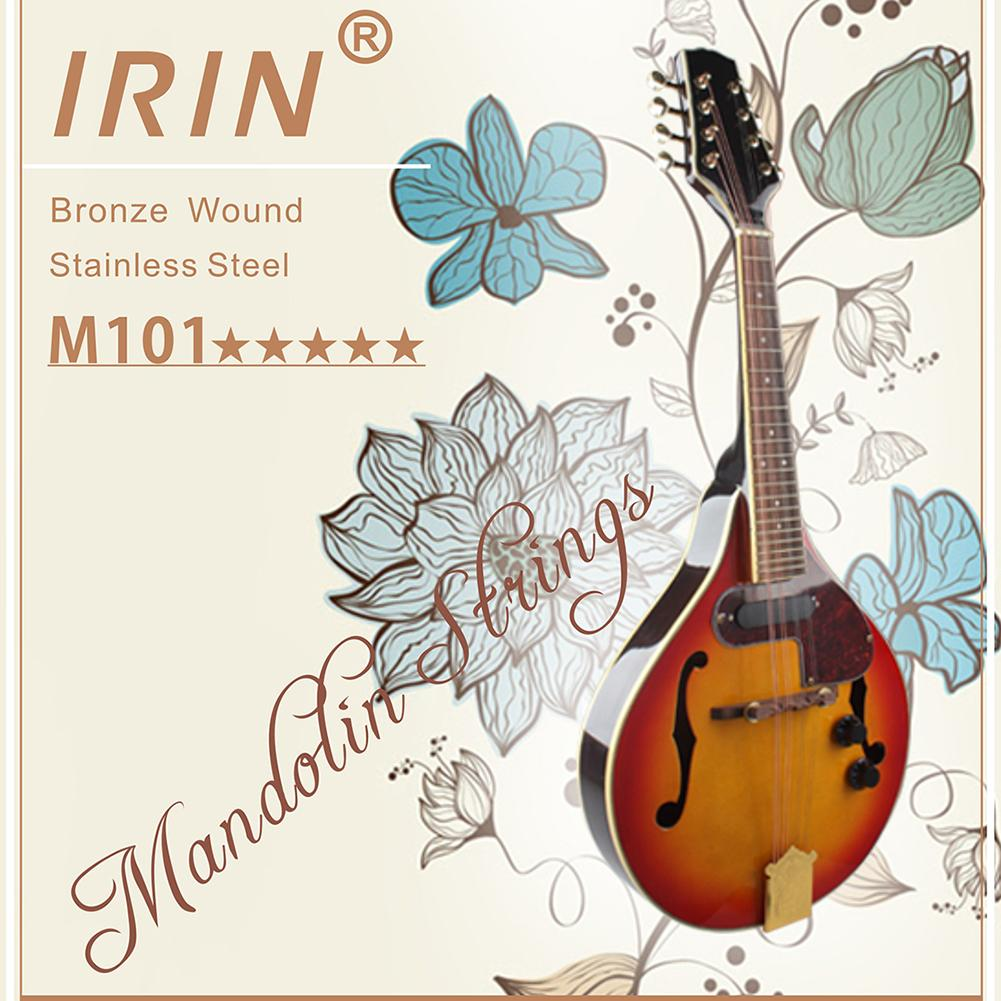 irin 8 pcs pack mandolin strings string set e a d g imported stainless steel mercerizing strings. Black Bedroom Furniture Sets. Home Design Ideas