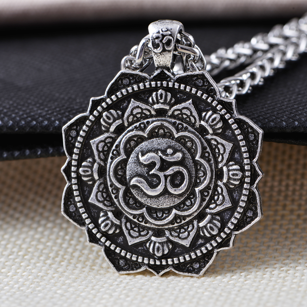 vintage jewelry spiritual geometry religious retro mandala pendant jewelries product tibet store necklaces amulet langhong necklace home