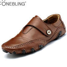 Los Hombres de descuento Zapatos Casuales 2017 de La Venta Caliente de Primavera Transpirable Masaje Mocasines Para Hombre Zapatos Planos Negro Los Hombres de Color Marrón de Cuero Genuino