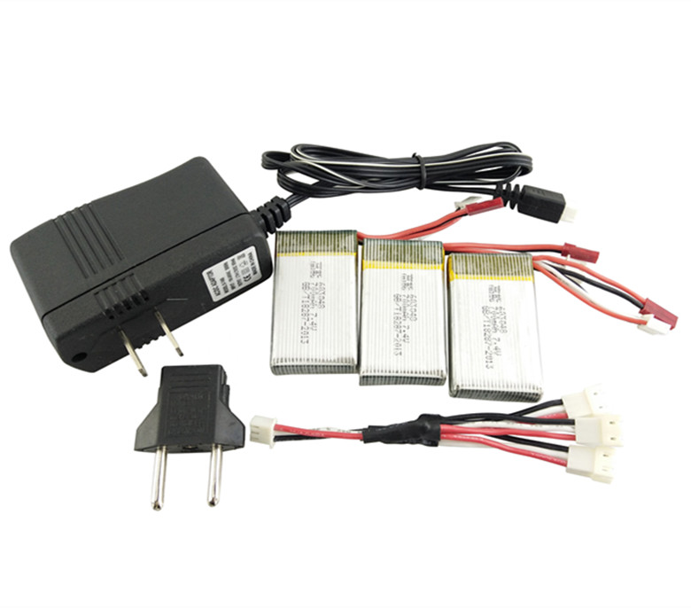 MJX x600 X601H Lipo battery 3in1 EU / US charger Adapter Spare 7.4V 25C 700mah bateria for rc drone Quadcopter lipo battery 7 4v 2700mah 10c 5pcs batteies with cable for charger hubsan h501s h501c x4 rc quadcopter airplane drone spare