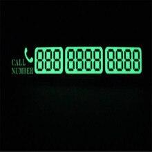 Автомобильная светящаяся Временная парковочная карта с присосками и номером телефона для Subaru Forester Outback Legacy XV Impreza Sport
