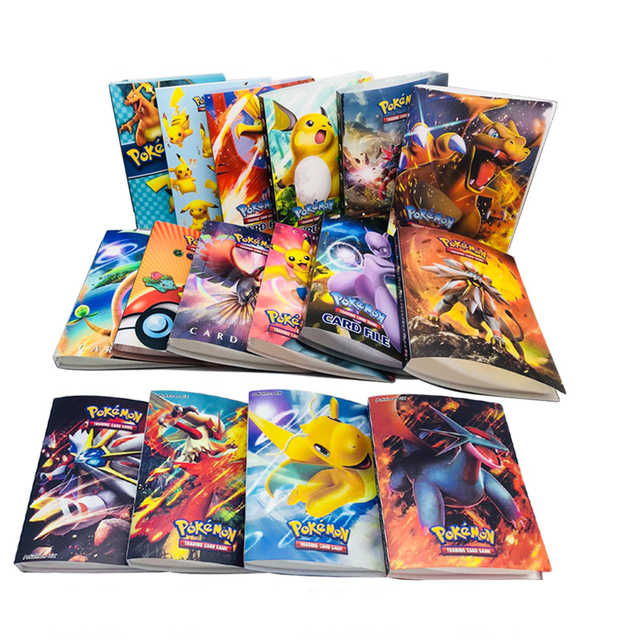 240pcs Cards Capacity 16 Styles pokemon Holder Album Cards Holder Suitable For  66*94mm Pikachu Cards Board Game Accessories