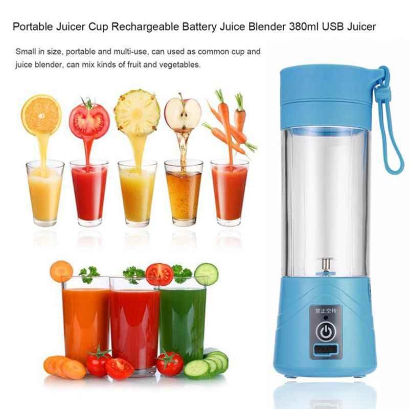 Novo Portátil 380 ml Liquidificador, Espremedor de Laranja Legumes Fruta Batido Liquidificador Smoothie, elétrico Misturador Da Cozinha (USB Recarregável)