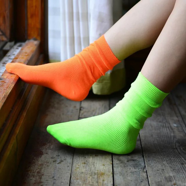 Women's Cotton Fluorescent Socks
