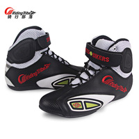 Breathable Motorcycle Boots Moto Shoes Motorcycle Non slip Riding Racing Motocross PU Leather Shoes for Men Women