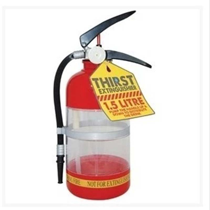 1set Fire Extinguisher Shape Water Beer Dispenser Alcohol Liquid Soft <font><b>Drink</b></font> Beverage Dispenser Machine Water Bottles Bar Tools image