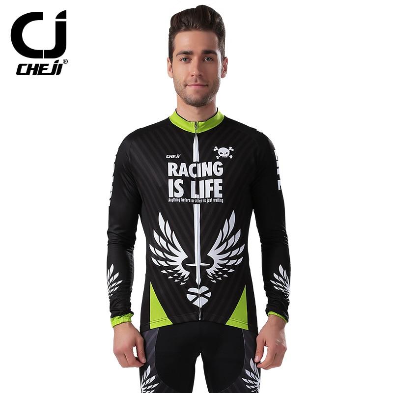 Cheji номер пунк 2017 мужская с длинным рукавом зимний велосипед одежда Велоспорт Джерси устанавливает дышащий быстросохнущие мужчины Велоспорт осень bikewear