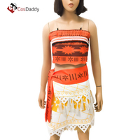 Moana Cosplay Costume The ocean is calling Maui Costumes Clothes Skirts Party CosDaddy