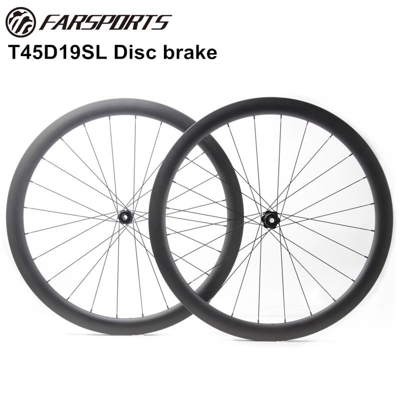 Легкий диск колеса 1465 г 700C полный углерода Toray волокно дорожные диски 45 мм Глубокий 26 мм шириной 19 мм внутренний широкий диск тормозная повер