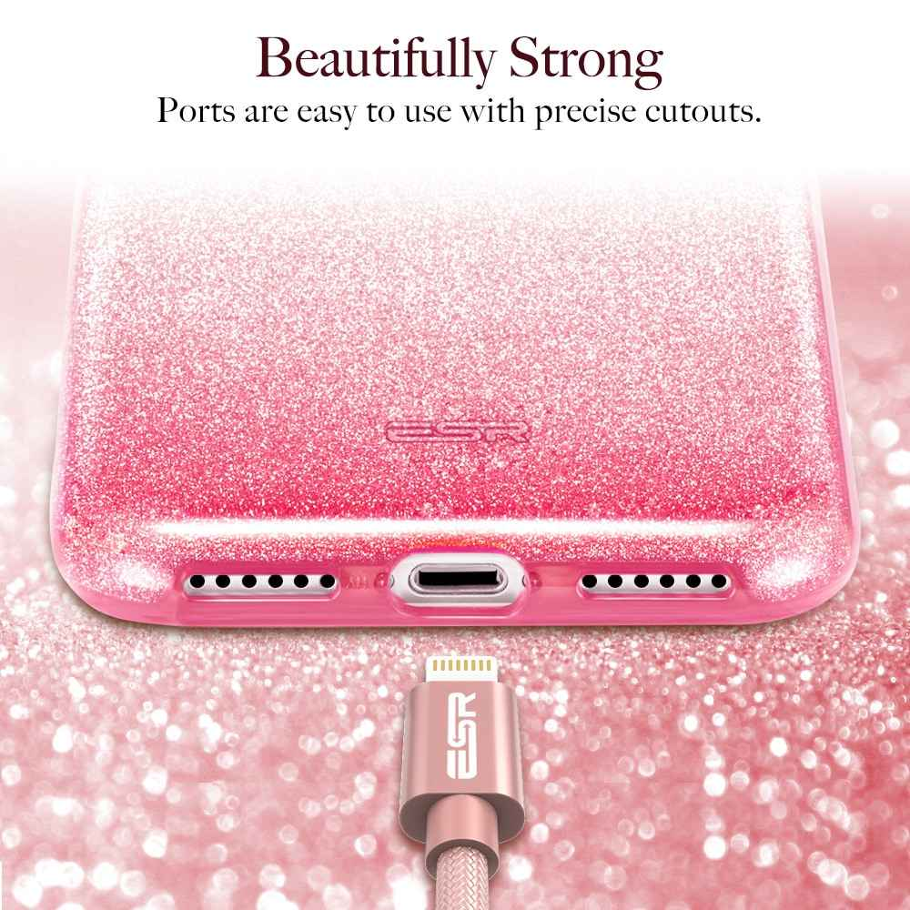 19186606bd596a ... ESR Case for iPhone XS XR XS Max Cover Luxury Back Cover Shining  Protective Bumper Bling ...