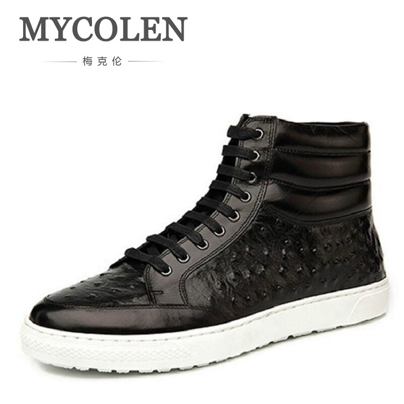MYCOLEN New Brand Flat Heel Men's Shoes Autumn Winter Ankle Boots Male Shoes Cowhide Leather British Style Casual Men Boots autumn and winter new leather shoes with leather boots and boots with flat boots british classic classic hot wild casual shoes