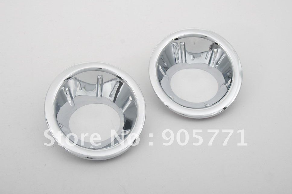 High Quality Chrome Front Fog Light Cover for Nissan Navara / Frontier D40 06-09 free shipping high quality chrome tail light cover for skoda octavia mk2 04 08 free shipping