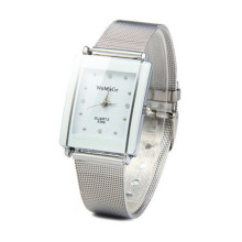 WoMaGe Luxury Crystal Bracelet Watch Stainless Steel