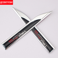 Car Styling 1pair Metal 3D Sticker Badge Emblem Fender Side Knife Decal Decoration For Toyota Ingsions