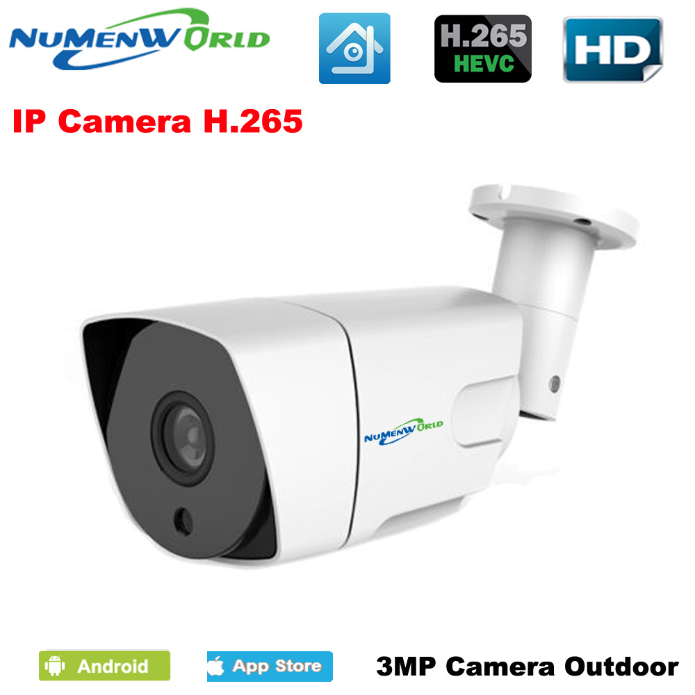 Waterproof H.265 Video Surveillance 3MP IP Camera Metal Material Outdoor night vision Bullet Camera POE Version Optional XMEye