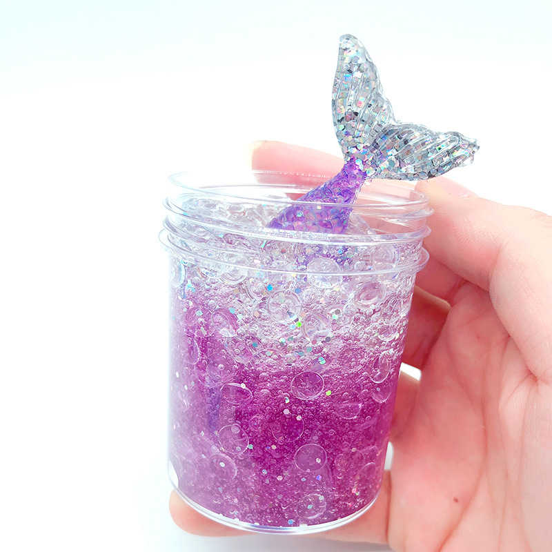 50g 120g Colorful Exquisite Fishbowl Beads Mermaid Slime Crystal Mud Cotton Clay Plasticene DIY Decompression Toys Box-packed