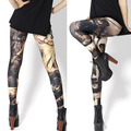 New Arrived  2016 black summer  women leggings sport 3D modern character digital print  fashion legging  Free shipping