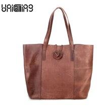 Fashion brand Retro luxury handbags women bags designer Cow Leather ladies shoulder bags big Leisure Genuine Leather women bag