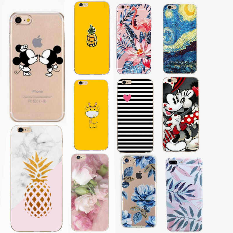 Cartoon Telefoon Geval Voor Fundas iPhone XS Max Leuke Cartoon Soft Cover Voor Apple iPhone X 7 8 Plus XR 6 6S 5 S 5 SE Siliconen Coque