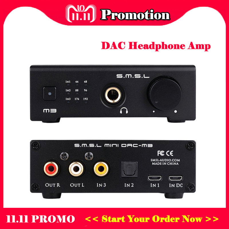 SMSL M3 Mini USB DAC Audio Headphone Amplifier CS4398 Portable Optical Coaxial Headphone Amp smsl m3 mini dac usb amplifier hifi headphone amplifier audio portable decoder headphone amp cs4398 sound amplifiers optical otg
