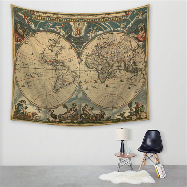 World map national flag style wall hanging tapestry bohemian hippie world map national flag style wall hanging tapestry bohemian hippie tapestry round beach yoga mat beach gumiabroncs Gallery
