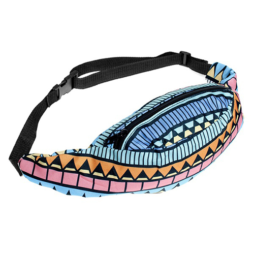 FGGS-waist bag Pouch Travel Holiday Money Wallets(Blue)