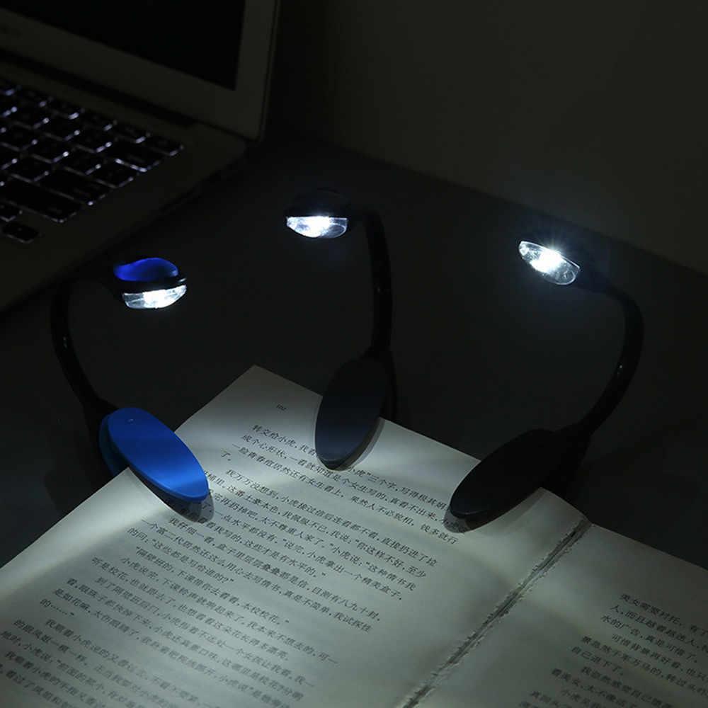 Светодиодный светильник с зажимом для книг, Мини Гибкий яркий светодиодный светильник с зажимом, лампа для чтения книг для путешествий, спальни, чтения книг 2019