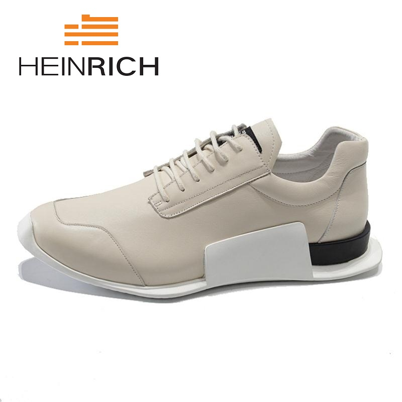 HEINRICH 2018 The New Listing Lace Up Fashion Leather Spring Autumn Casual Shoes For Male Designer Comfortable Men ShoesHEINRICH 2018 The New Listing Lace Up Fashion Leather Spring Autumn Casual Shoes For Male Designer Comfortable Men Shoes