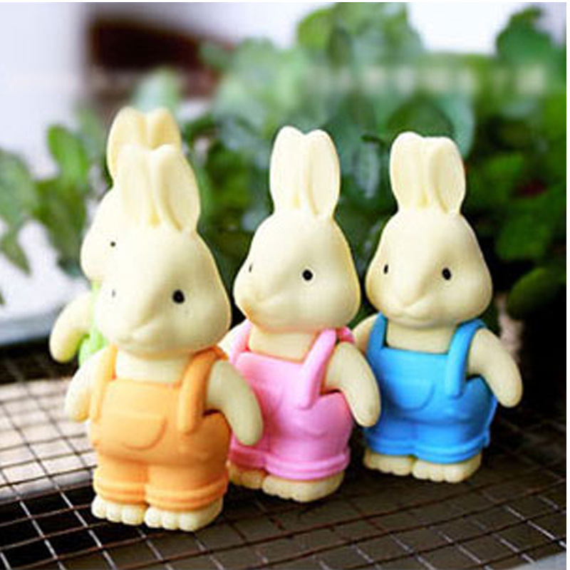 Creative Stationery Cute Cartoon Straps And Trousers Rabbit Eraser Student Prizes Wholesale School Supplies