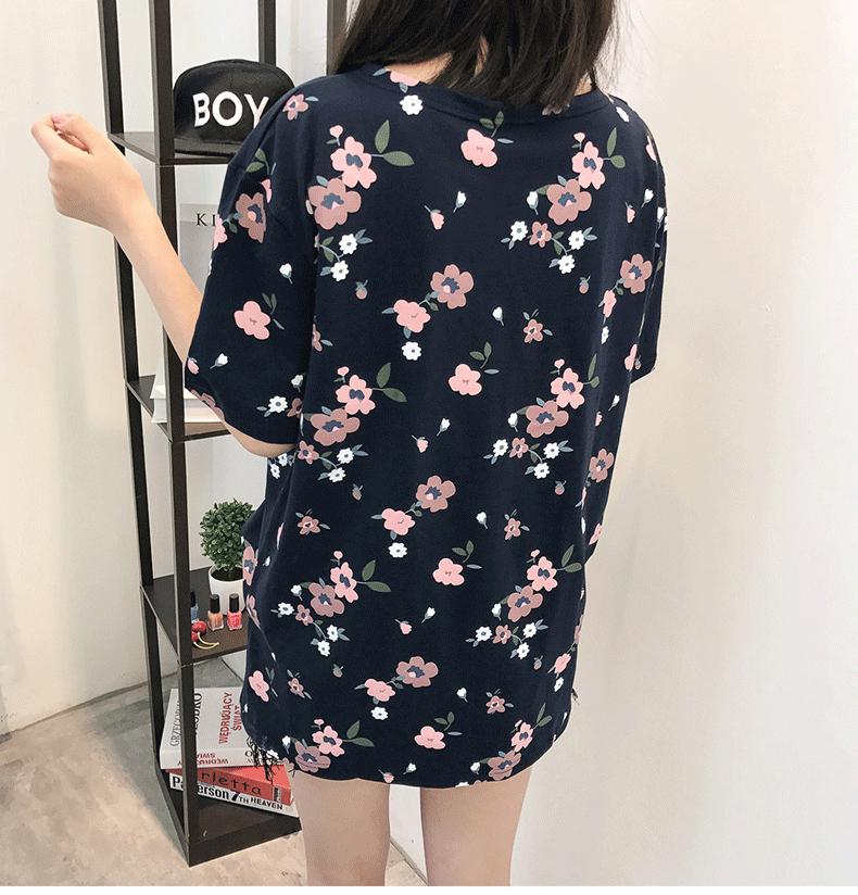 Casual Loose Women Summer T-shirt Womens O-neck Printing Cute T-shirts Female Sweet Girls Tops Females Korean Style New Trendy 14