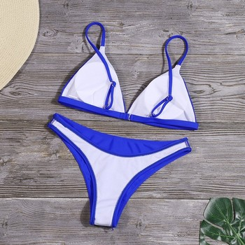 Sexy Solid Bikini Set Women Triangle Swimwear New Low Waist Bathing Suit Summer Beach Wear Female Red Swimsuit Biquini 8
