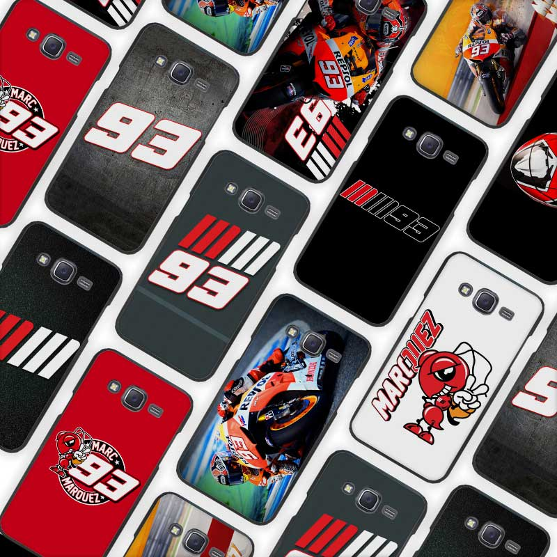 Marc Marquez 93 Black Case Cover Shell for Samsung Galaxy J1 J3 J2 J5 J7 Prime 2016 2017