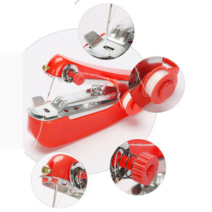 1 шт. красные мини швейные машины рукоделие Беспроводная ручная одежда полезные портативные Швейные машины ручные инструменты аксессуары