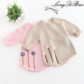 одежда для маленьких девочек осенняя одежда новый хлопковый вязаный
