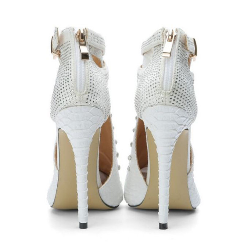 Tamaño 47 34 Blanco Hebilla Sexy Plus Fiesta Diamantes Tacón Mujeres Verano Vulusvalas Cordón Alto Sandalias De Calidad Imitación Fino Zapatos 5wB4tqxv