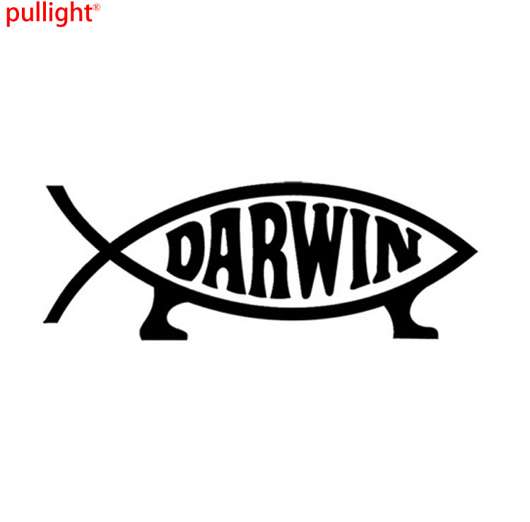 19 7CM DARWIN Interesting Biological Evolution Motorcycle Decals Car Stickers Car Styling