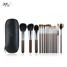 Anmor 15 Pieces Professional Makeup Brushes Natural Hair Make Up Brushes Brand New Ancient  Makeup Brush Set