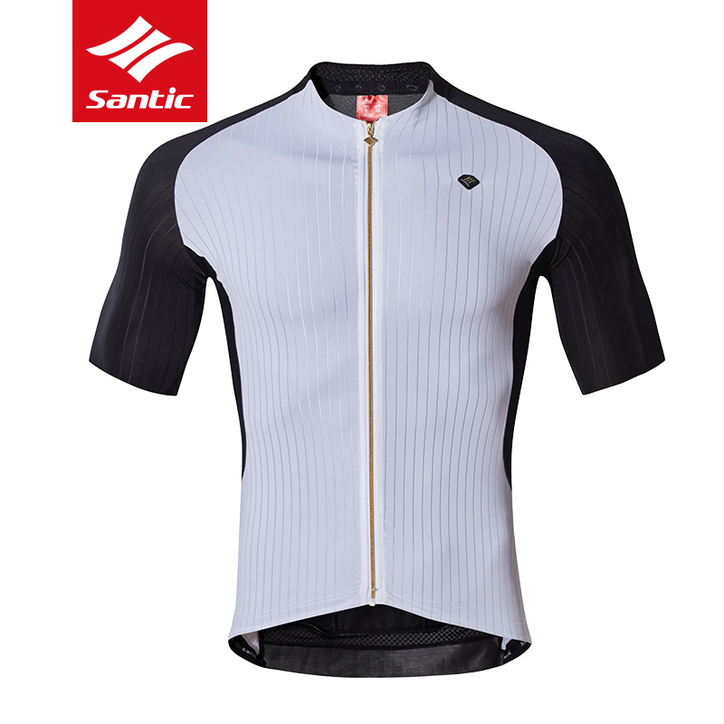 New Santic Mens Short Sleeve Cycling Jersey Breathable Quick Dry MTB Road Bike Shirts Spring Summer Anti-Sweat Bicycle Clothing xintown mens cycling jerseys set long sleeves mtb jersey pad bike bicycle jacket sets shirts wear uniforms cigar skull s 4xl