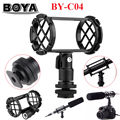 Free shipping!BOYA BY-C04 Camera Video Shock Mount for RODE NT4 BOYA BY-PM1000 Shotgun Microphones 19-25mm in Diameter