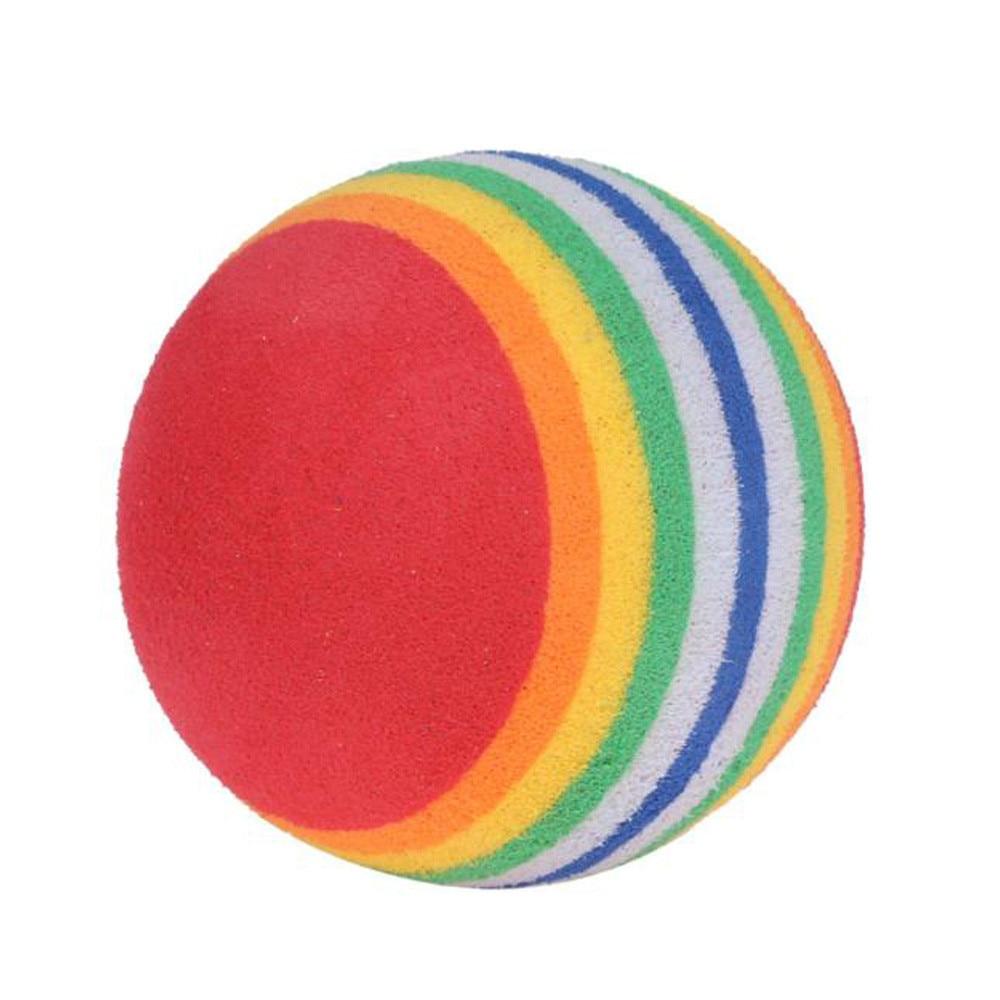 10Pcs/Pack Rainbow Stripe Foam Sponge Golf Balls Swing Practice Training Aids #20