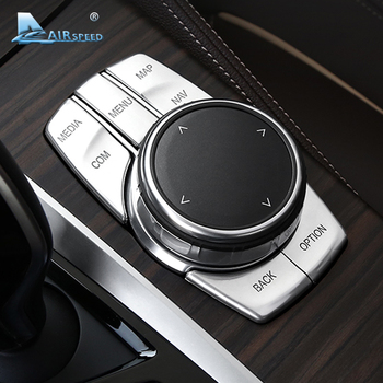 Airspeed for BMW 5 Series G30 528i 530i 540i Accessories Car Multimedia Buttons Cover Decal ABS Interior Decoration Car Styling