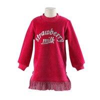 Winter Girl Warm Mini Dress Autumn Girl Dress Kids Clothes Christmas Coat Girl Winter Clothes For Children Dress