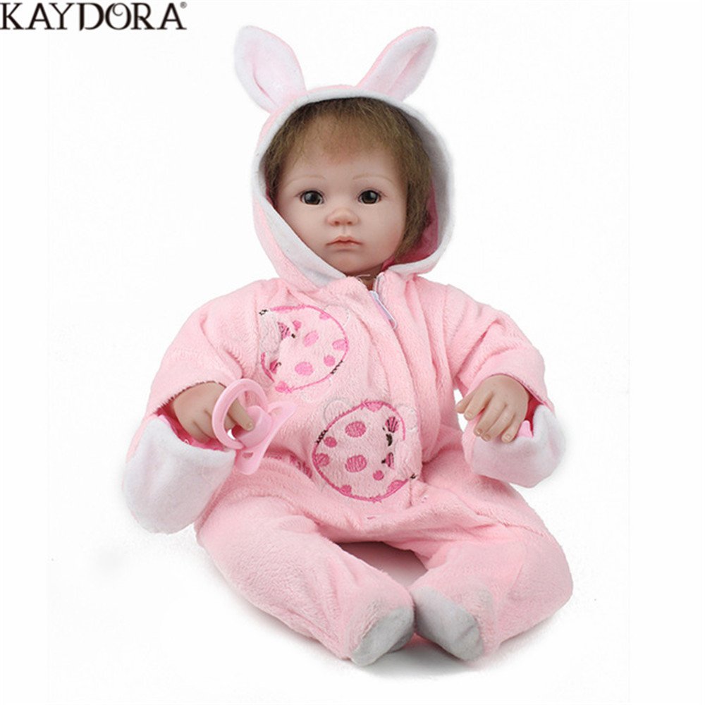 KAYDORA Baby Alive Doll Silicone Reborn 16 Inch Doll NewBorn Baby Girl Clothing Handmade Toys For Children Stuffed Toy Kids KAYDORA Baby Alive Doll Silicone Reborn 16 Inch Doll NewBorn Baby Girl Clothing Handmade Toys For Children Stuffed Toy Kids