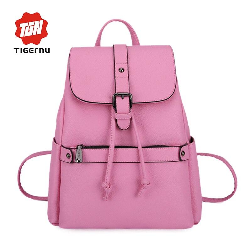 2017 Tigernu Fashion Design PU Leather Girl School Bags for Teenage girls Shoulder Bag font b