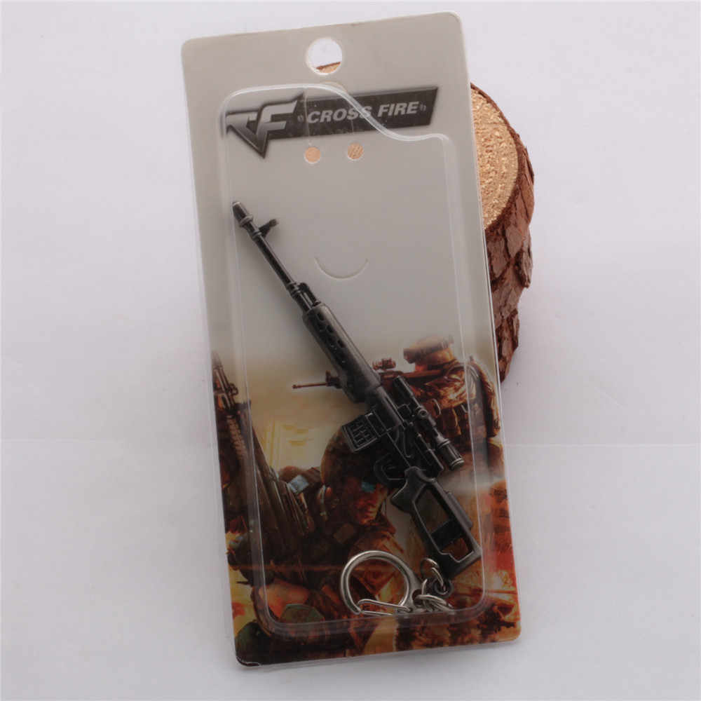 17 type 12cm Game Cross Fire AK47 Submachine SR3M Gun Nepal Knife Weapon  Keyring CF Sword Model Pendant Keychain CSGO Charm Gift