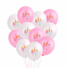 PATIMATE Gold Confetti Helium Balloon Flamingo Pink Unicorn Birthday Party Decor Mermaid Decorative Supplies Diy