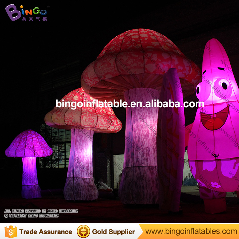 Free Delivery LED lighting giant inflatable mushroom Stage decoration customized size for light-up toys inflatable cartoon customized advertising giant christmas inflatable santa claus for christmas outdoor decoration
